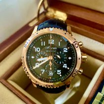 Breguet Type XX - XXI - XXII pre-owned 42mm Brown Chronograph Flyback Date Crocodile skin