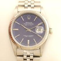 Rolex Datejust Белое золото 36mm Синий
