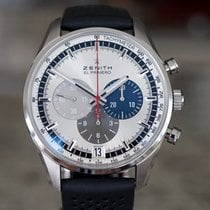 Zenith El Primero 36'000 VpH Steel 42mm Silver No numerals United States of America, Massachusetts, Boston