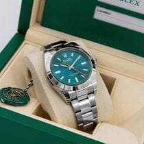 Rolex Milgauss Ocel Modrá