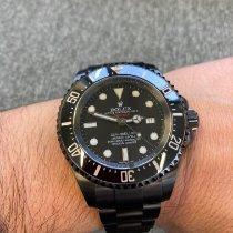 Rolex Sea-Dweller Deepsea 43mm Czarny Bez cyfr