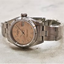 Rolex Oyster Perpetual Lady Date Steel 26mm Champagne Arabic numerals