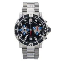 Ulysse Nardin Maxi Marine Diver pre-owned 42mm Black Chronograph Date Steel