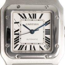 Cartier Santos Galbée Сталь 32mm Cеребро