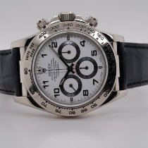 Rolex Daytona Or blanc 40mm Blanc Arabes