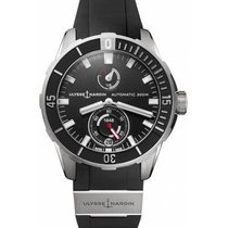 Ulysse Nardin Diver Chronograph Steel 44mm Black No numerals