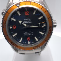 Omega Seamaster Planet Ocean gebraucht 43,50mm Schwarz Datum Stahl