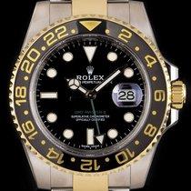 Rolex GMT-Master II Gold/Stahl 40mm Schwarz