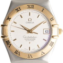 Omega Constellation Acero y oro 35.5mm Plata