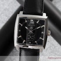 TAG Heuer Stahl Quarz Schwarz 37mm gebraucht Monaco Lady