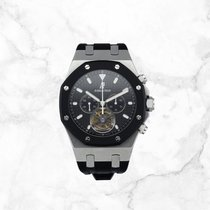 Audemars Piguet Royal Oak Tourbillon neu 2019 Handaufzug Chronograph Uhr mit Original-Box und Original-Papieren 26377sk.oo.d002ca.01