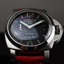 Panerai Steel Manual winding Black Arabic numerals 44mm pre-owned Luminor 1950 8 Days GMT