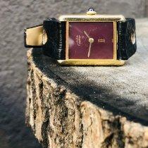 Cartier Tank Vermeil Желтое золото 23mm Белый Римские