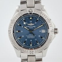 Breitling Colt Automatic Steel 38mm Blue Arabic numerals
