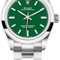 Rolex Oyster Perpetual 31 Steel 31mm Green No numerals
