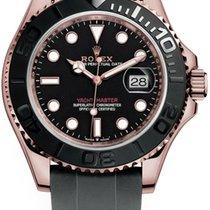 Rolex Oro rosa Automático Negro Sin cifras 40mm nuevo Yacht-Master 40