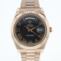 Rolex Day-Date II Růžové zlato 41mm Černá