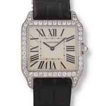 Cartier White gold Silver 30mm Santos Dumont
