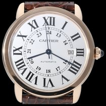 Cartier Ronde Solo de Cartier Or rose 42mm Argent Romains