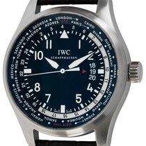 IWC Pilot Worldtimer Steel 45mm Black Arabic numerals United States of America, Texas, Austin