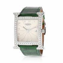 Hermès pre-owned Quartz 30mm Silver Sapphire crystal 3 ATM