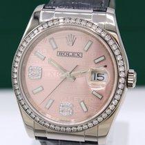 Rolex Datejust Ouro branco 36mm Cor-de-rosa