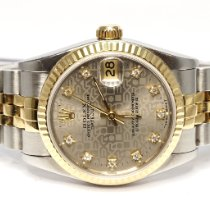 Rolex Lady-Datejust pre-owned 31mm Silver Date Fold clasp