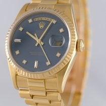 Rolex Day-Date 36 gebraucht 36mm Blau Datum Wochentagsanzeige Gelbgold