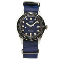 Oris Divers Sixty Five pre-owned 40mm Blue Textile