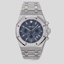 Audemars Piguet Royal Oak Chronograph używany 39mm Niebieski Chronograf Data Stal
