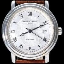 Frederique Constant Classics occasion 38mm Argent Date Cuir