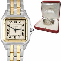 Cartier Panthère Gold/Steel 27mm Champagne Roman numerals United States of America, New York, Massapequa Park