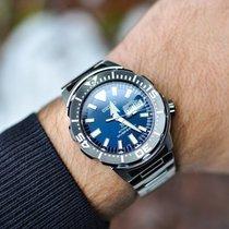 Seiko Prospex pre-owned 42.4mm Blue Date Steel