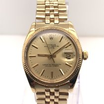 Rolex Oyster Perpetual Date Yellow gold 34mm Gold No numerals United States of America, New York, New York
