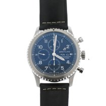 Breitling Navitimer 8 occasion 43mm Bleu Chronographe Date Cuir