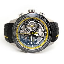 Graham new Automatic Skeletonized Display back Small seconds Luminous numerals Luminous hands Limited Edition PVD/DLC coating 46mm Steel Sapphire crystal