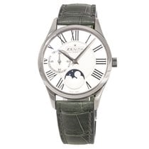 Zenith Elite Ultra Thin pre-owned 33mm White Moon phase Steel