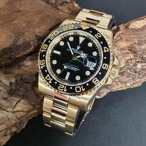 Rolex Gelbgold Automatik Schwarz 40mm gebraucht GMT-Master II