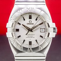 Omega Constellation Double Eagle Zeljezo 38mm Srebro