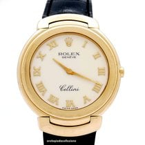 Rolex Cellini Geelgoud 37mm Wit Romeins