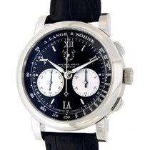 A. Lange & Söhne Double Split Platinum Black Arabic numerals