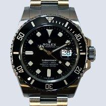 Rolex Submariner Date Acciaio 41mm Nero Senza numeri
