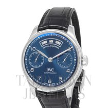 IWC Portuguese Annual Calendar Steel 44mm Blue Arabic numerals United States of America, New York, Hartsdale