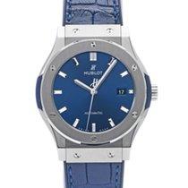 Hublot Classic Fusion Blue подержанные 42mm Синий Кожа