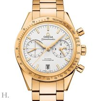Omega Yellow gold Automatic Silver 41.5mm new Speedmaster '57
