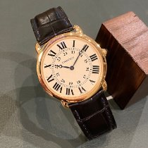 Cartier Ronde Louis Cartier Or rose 36mm Blanc Romains France, Paris