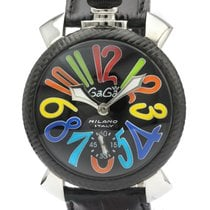 Gaga Milano Steel 48mm Manual winding 5015S pre-owned