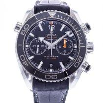 Omega Seamaster Planet Ocean Chronograph Acero 45.5mm Negro
