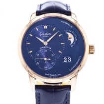 Glashütte Original PanoMaticLunar pre-owned 40mm Blue Date Leather