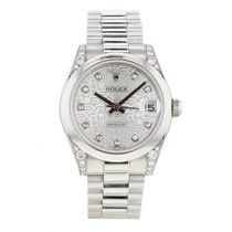 Rolex Platine Remontage automatique Bleu 31mm occasion Lady-Datejust
